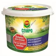 Compo Твердое удобрение длительного действия для газонов против мха 4 и 5 кг