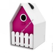Домик для птиц EMSA LANDHAUS 15х24 см (Белый Розовый)