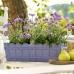 Оконный цветочный горшок EMSA COUNTRY прямоугольный 50х17 см (Серый)