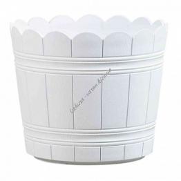 Оконный цветочный горшок EMSA COUNTRY круглый 35х29 см (Белый)