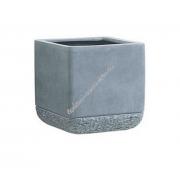 Цветочный горшок EMSA Mossburn 27х27х27 см, 18 л (Серый)