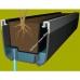 Балконный вазон EMSA PALAZZO 100х22х18 см (Коричневый)