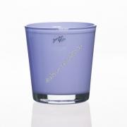 Вазон для орхидеи стеклянный лаванда 135 на 125 мм