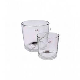 Вазон для орхидеи стеклянный прозрачный 130 на 125 мм