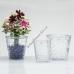 Вазон для орхидеи стеклянный прозрачный 130 на 135 мм
