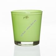 Вазон для орхидеи стеклянный зеленый 135 на 125 мм