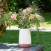 LECHUZA Yula Flower 38х17х33 Белый ярко розовый