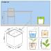 LECHUZA Cube Premium LS 40 Белый
