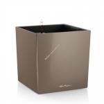 LECHUZA Cube Premium LS 40 Серокоричневый